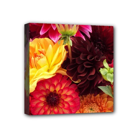 Bunch Of Flowers Mini Canvas 4  X 4  by trendistuff