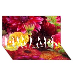 Bunch Of Flowers Engaged 3d Greeting Card (8x4)  by trendistuff