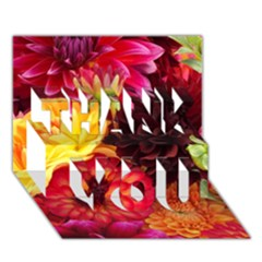 Bunch Of Flowers Thank You 3d Greeting Card (7x5)  by trendistuff