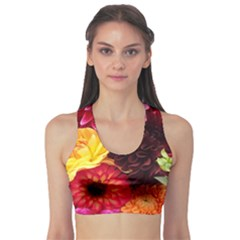 Bunch Of Flowers Sports Bra by trendistuff