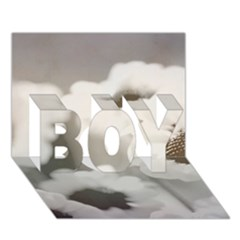 Black And White Flower Boy 3d Greeting Card (7x5) by trendistuff