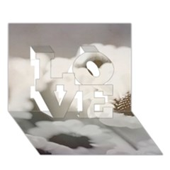 Black And White Flower Love 3d Greeting Card (7x5)  by trendistuff