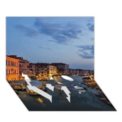 Venice Canal Love Bottom 3d Greeting Card (7x5)  by trendistuff