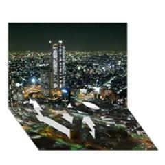 Tokyo Night Love Bottom 3d Greeting Card (7x5)  by trendistuff