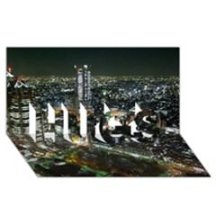 Tokyo Night Hugs 3d Greeting Card (8x4)
