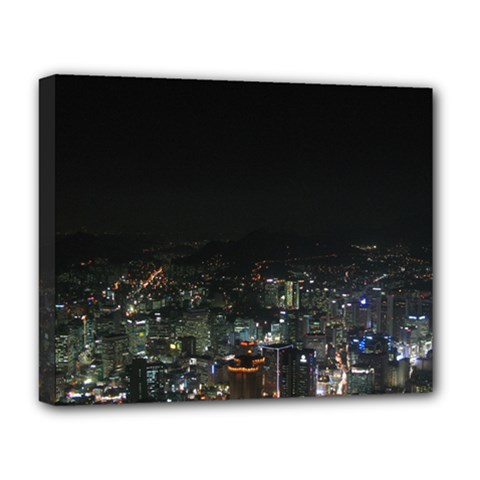 Seoul Night Lights Deluxe Canvas 20  X 16