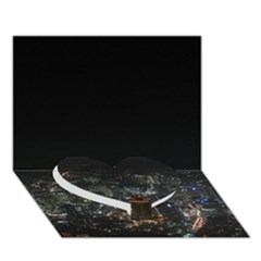 Seoul Night Lights Heart Bottom 3d Greeting Card (7x5)