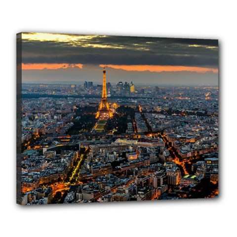 Paris From Above Canvas 20  X 16  by trendistuff