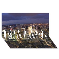 New York 1 Engaged 3d Greeting Card (8x4)  by trendistuff