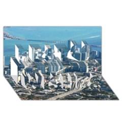 Miami Best Wish 3d Greeting Card (8x4)  by trendistuff