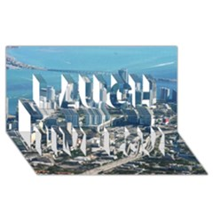 Miami Laugh Live Love 3d Greeting Card (8x4)  by trendistuff