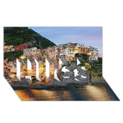 Manarola Italy Hugs 3d Greeting Card (8x4)