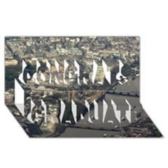 London Congrats Graduate 3d Greeting Card (8x4)