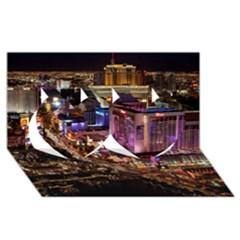 Las Vegas 2 Twin Hearts 3d Greeting Card (8x4)
