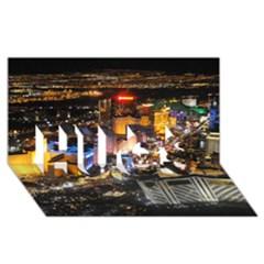 Las Vegas 1 Hugs 3d Greeting Card (8x4)  by trendistuff