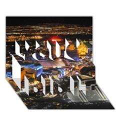 Las Vegas 1 You Did It 3d Greeting Card (7x5) by trendistuff
