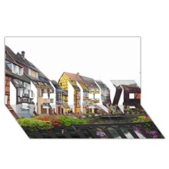 Colmar France Believe 3d Greeting Card (8x4)  by trendistuff