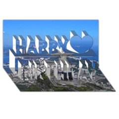 Christ On Corcovado Happy Birthday 3d Greeting Card (8x4)  by trendistuff