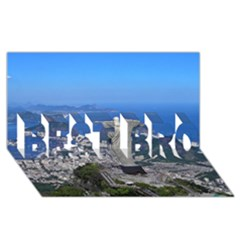 Christ On Corcovado Best Bro 3d Greeting Card (8x4)