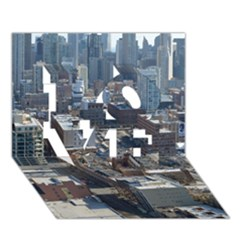Chicago Love 3d Greeting Card (7x5)  by trendistuff