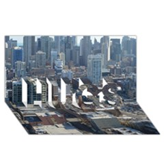 Chicago Hugs 3d Greeting Card (8x4)  by trendistuff