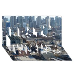 Chicago Best Wish 3d Greeting Card (8x4)