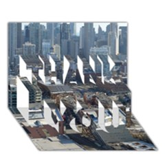 Chicago Thank You 3d Greeting Card (7x5)  by trendistuff
