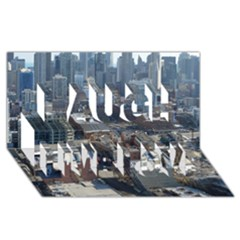 Chicago Laugh Live Love 3d Greeting Card (8x4)