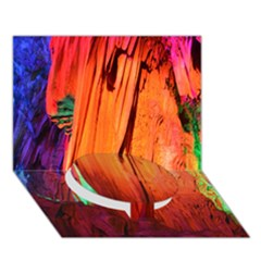 Reed Flute Caves 4 Circle Bottom 3d Greeting Card (7x5)