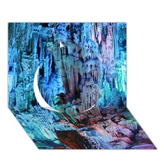 Reed Flute Caves 3 Circle 3d Greeting Card (7x5)  by trendistuff