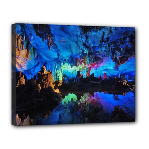 Reed Flute Caves 2 Canvas 14  X 11  by trendistuff