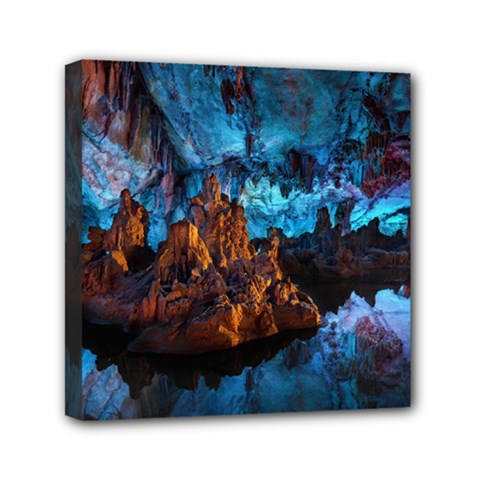Reed Flute Caves 1 Mini Canvas 6  X 6  by trendistuff