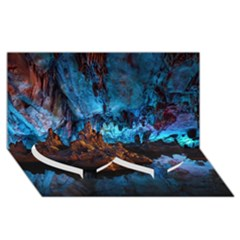 Reed Flute Caves 1 Twin Heart Bottom 3d Greeting Card (8x4)  by trendistuff