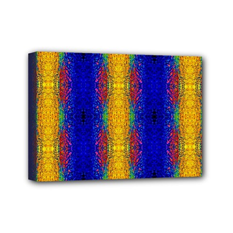 Cool  Abstract Neon Pattern Mini Canvas 7  X 5