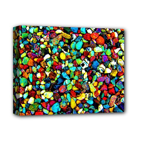 Colorful Stones, Nature Deluxe Canvas 14  X 11  by Costasonlineshop