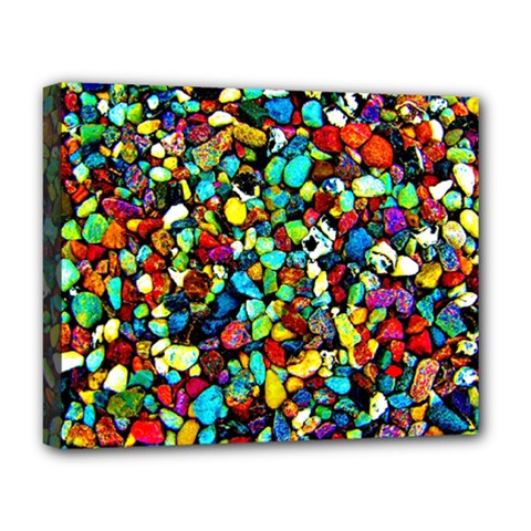 Colorful Stones, Nature Deluxe Canvas 20  X 16