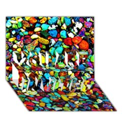 Colorful Stones, Nature You Are Invited 3d Greeting Card (7x5)  by Costasonlineshop