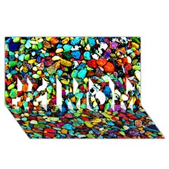 Colorful Stones, Nature #1 Mom 3d Greeting Cards (8x4)  by Costasonlineshop
