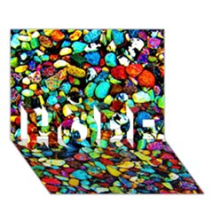 Colorful Stones, Nature Hope 3d Greeting Card (7x5)