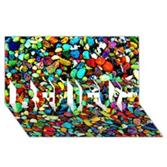 Colorful Stones, Nature Believe 3d Greeting Card (8x4)  by Costasonlineshop