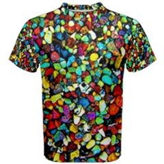 Colorful Stones, Nature Men s Cotton Tees by Costasonlineshop