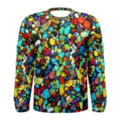 Colorful Stones, Nature Men s Long Sleeve T Shirts by Costasonlineshop