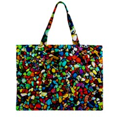 Colorful Stones, Nature Zipper Tiny Tote Bags by Costasonlineshop