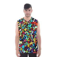 Colorful Stones, Nature Men s Basketball Tank Top by Costasonlineshop