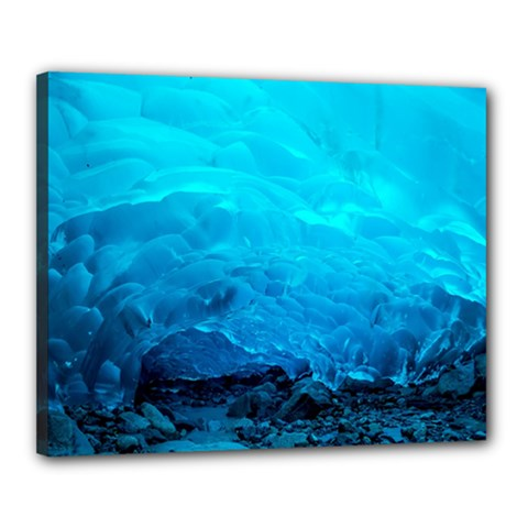 MENDENHALL ICE CAVES 3 Canvas 20  x 16  by trendistuff