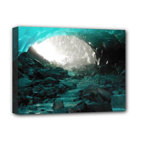 Mendenhall Ice Caves 2 Deluxe Canvas 16  X 12   by trendistuff
