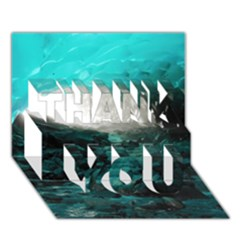 Mendenhall Ice Caves 2 Thank You 3d Greeting Card (7x5)