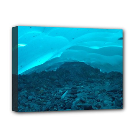Mendenhall Ice Caves 1 Deluxe Canvas 16  X 12   by trendistuff