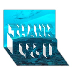 Mendenhall Ice Caves 1 Thank You 3d Greeting Card (7x5)