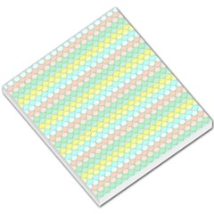 Scallop Repeat Pattern In Miami Pastel Aqua, Pink, Mint And Lemon Small Memo Pads by PaperandFrill
